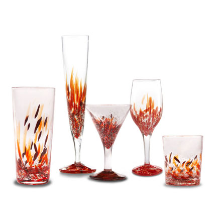 Argento Stemware in Pomegranate