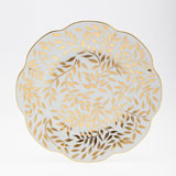 Olivier gold Dessert plate 8.5 inch | Gracious Style