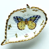 Spring in Budapest Large Purple & Yellow Butterfly Leaf Ring Dish 5 in | Gracious Style