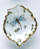 Spring in Budapest Dragonfly & Green Bug Leaf Ring Dish 4.5 in | Gracious Style