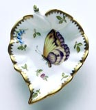 Spring in Budapest Purple & Yellow Butterfly Leaf Ring Dish 5 in Long | Gracious Style