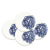 Peony Blue 8.5 in Dessert Plates Boxed Set/4 | Gracious Style