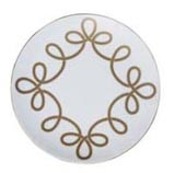 Brandebourg Matte Gold Rimless Dessert Plate 22 Cm (Special Order) | Gracious Style