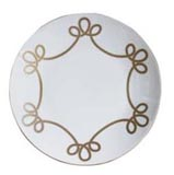 Brandebourg Matte Gold Rimless Large Dinner Plate 28 Cm (Special Order) | Gracious Style