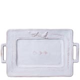 Bellezza White Handled Rectangular Platter | Gracious Style