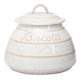 Bellezza White Biscotti Jar   Gracious Style
