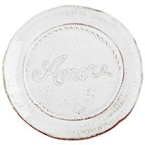 Bellezza White Amore Plate | Gracious Style