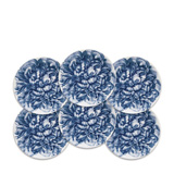 Peony Blue Canapes Boxed Set/6 | Gracious Style