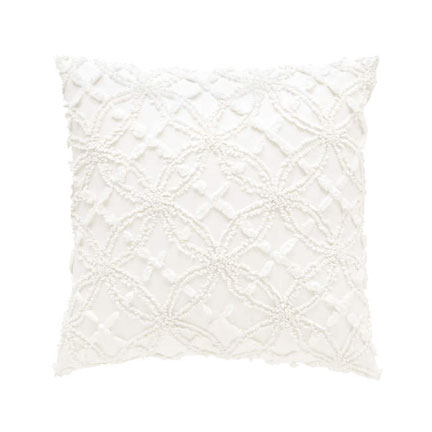 candlewick dove white decorative pillow 18 - White Decorative Pillows