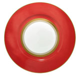 Cristobal Coral Wide Band Dinner Plate 10.5 in Round | Gracious Style