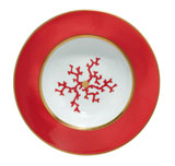 Cristobal Coral Rim Soup Plate 8.25 in Round | Gracious Style