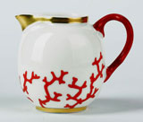 Cristobal Coral Creamer 3.25 in High 6.5 oz | Gracious Style