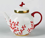 Cristobal Coral Tea Pot 6.5 in High 35 oz | Gracious Style