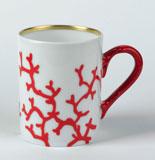 Cristobal Coral Mug 9.25 oz | Gracious Style