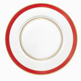 Cristobal Coral Small Band Dinner Plate 10.5 in Round | Gracious Style