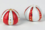 Cristobal Coral Salt & Pepper Shakers Set 1.5 in High | Gracious Style