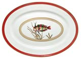 Cristobal Coral Fish Oval Platter 16 in x 11.75 in | Gracious Style