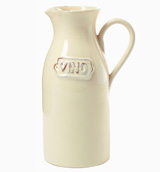 Crema Cream Vino Pitcher | Gracious Style