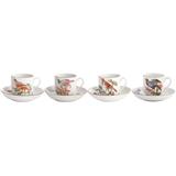 Chels Bird Tea Cup & Saucer, Set Of Four | Gracious Style