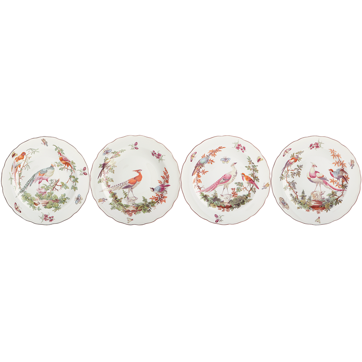 Chels Bird Dinner Plate Set of 4 | Gracious Style  sc 1 st  Gracious Style & Mottahedeh Chelsea Bird Dinnerware | Gracious Style