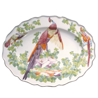 Chelsea Bird Oval Platter 11 X 14 In | Gracious Style