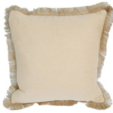 Linen with Jute Fringe Wheat Linen/Barley Pipe Pillow, 24 in square