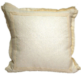 Linen Eggshell/Natural Twill Tape Pillow, 20 in square