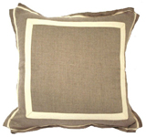 Linen Natural/Natural Twill Tape Pillow, 20 in square