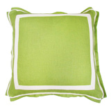Linen Lime/Natural Twill Tape Pillow, 20 in square