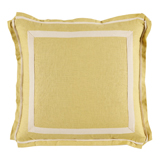 Linen Lemongrass/Natural Twill Tape Pillow, 20 in square