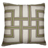 Lattice Basil/Heavy Basket Pillow, 22 in square