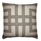 Lattice Horizon/Heavy Basket Pillow, 22 in square