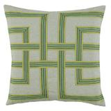 Lattice Breeze/Heavy Basket Pillow, 22 in square