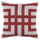 Lattice Tropic/Heavy Basket Pillow, 22 in square