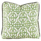 Imperial Jade/Charcoal Velvet Pillow, 24 in square