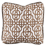 Imperial Cafe/Cafe Velvet Pillow, 24 in square