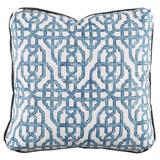 Imperial Seaside/Charcoal Velvet Pillow, 24 in square