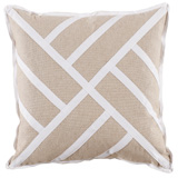 Chippendale Heavy Basket/White Twill Tape Pillow, 22 in square