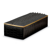Crocodile Rectangular Box 4 in x 9 in x 2 in | Gracious Style