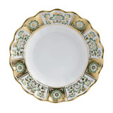 Derby Panel Green Fluted Dessert Plate 8.75 in Round | Gracious Style