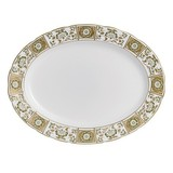 Derby Panel Green Large Platter 15 in Round | Gracious Style