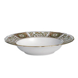 Derby Panel Green Rim Soup Plate 8 in Round | Gracious Style