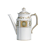 Derby Panel Green Coffee Pot 38.5 oz | Gracious Style