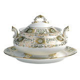 Derby Panel Green Soup Tureen and Cover 64.25 oz | Gracious Style