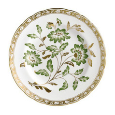 Accent Derby Panel Green Plate in Gift Box 8 in Round | Gracious Style