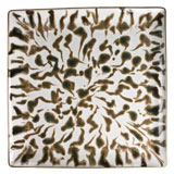 Cream Scale Gold Finition Extra Large Square Tray 10.5 in x 10.5 in | Gracious Style