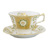 Green Panel Accent Tea Cup | Gracious Style