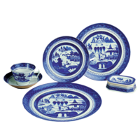 Blue Canton 5Pc Setting | Gracious Style