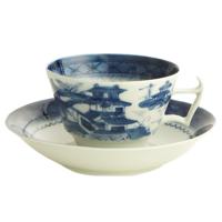 Blue Canton Tea Cup & Saucer | Gracious Style