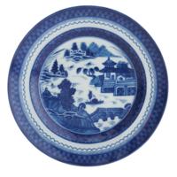 Blue Canton Rim Soup Plate | Gracious Style
